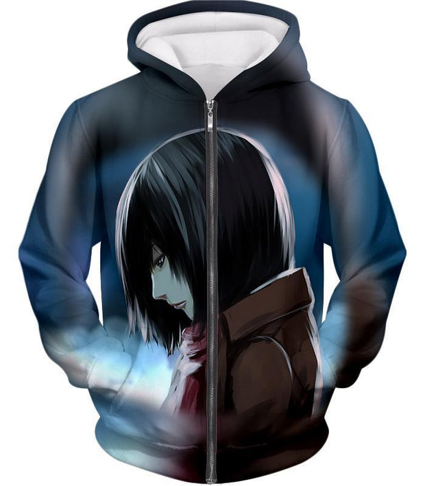 OtakuForm-OP Hoodie Zip Up Hoodie / US XXS (Asian XS) Attack on Titan Most Beautiful Mikasa Ackerman Hoodie