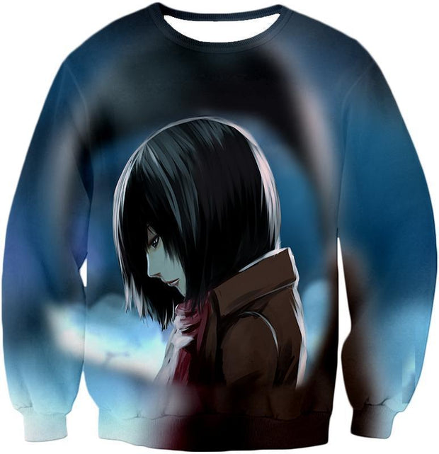 OtakuForm-OP Hoodie Sweatshirt / US XXS (Asian XS) Attack on Titan Most Beautiful Mikasa Ackerman Hoodie