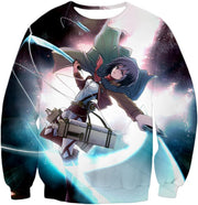 OtakuForm-OP Hoodie Sweatshirt / US XXS (Asian XS) Attack on Titan Super Cool Soldier Mikasa Ackerman Hoodie  - Anime Hoodie