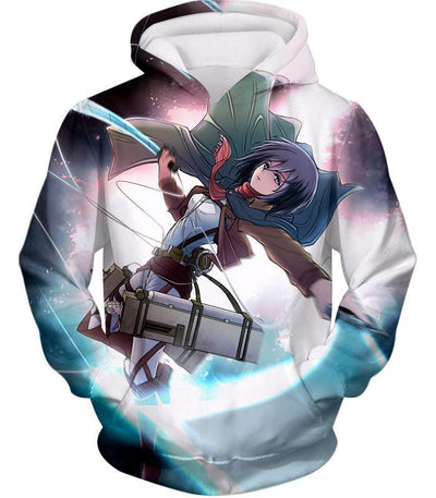 OtakuForm-OP Hoodie Hoodie / US XXS (Asian XS) Attack on Titan Super Cool Soldier Mikasa Ackerman Hoodie  - Anime Hoodie
