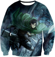 OtakuForm-OP Hoodie Sweatshirt / US XXS (Asian XS) Attack on Titan Super Cool Survey Soldier Captain Levi Hoodie