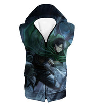 OtakuForm-OP Hoodie Hooded Tank Top / US XXS (Asian XS) Attack on Titan Super Cool Survey Soldier Captain Levi Hoodie