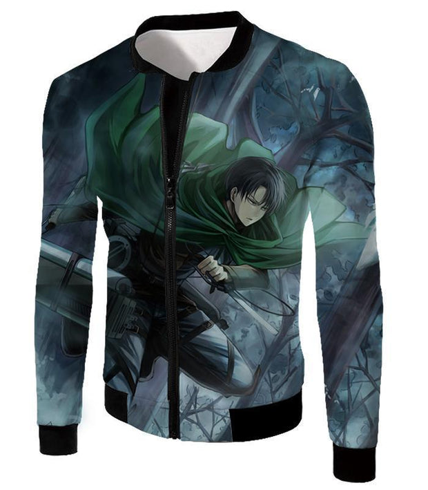 OtakuForm-OP Hoodie Jacket / US XXS (Asian XS) Attack on Titan Super Cool Survey Soldier Captain Levi Hoodie