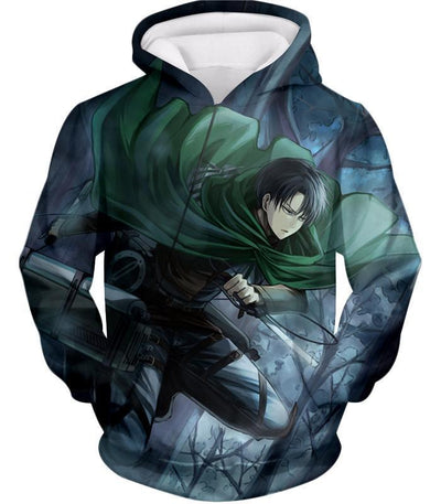 OtakuForm-OP Hoodie Hoodie / US XXS (Asian XS) Attack on Titan Super Cool Survey Soldier Captain Levi Hoodie