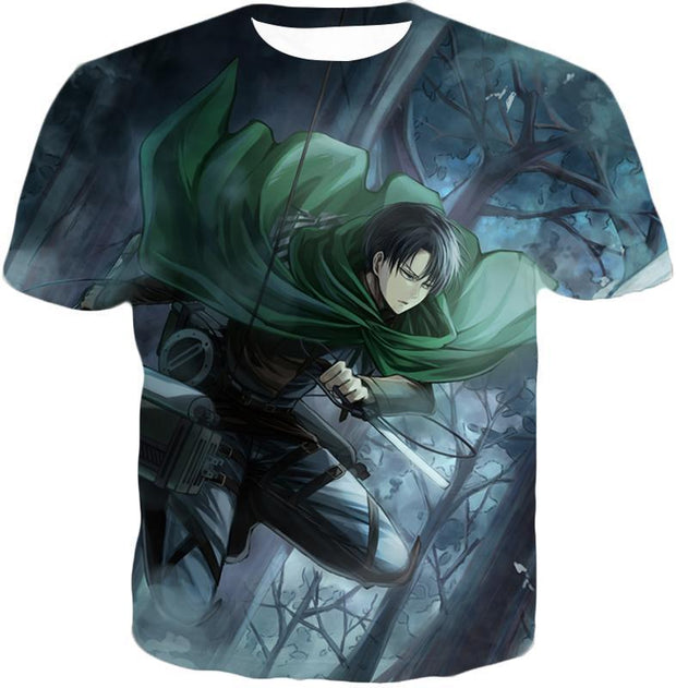 OtakuForm-OP Hoodie T-Shirt / US XXS (Asian XS) Attack on Titan Super Cool Survey Soldier Captain Levi Hoodie