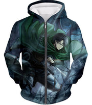 OtakuForm-OP Hoodie Zip Up Hoodie / US XXS (Asian XS) Attack on Titan Super Cool Survey Soldier Captain Levi Hoodie