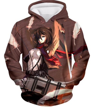 OtakuForm-OP Hoodie Hoodie / US XXS (Asian XS) Attack on Titan The Survey Corps Emblem Black Hoodie