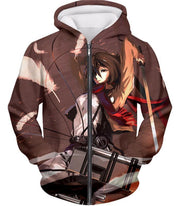 OtakuForm-OP Hoodie Zip Up Hoodie / US XXS (Asian XS) Attack on Titan The Survey Corps Emblem Black Hoodie
