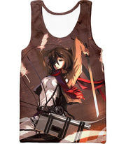 OtakuForm-OP Hoodie Tank Top / US XXS (Asian XS) Attack on Titan The Survey Corps Emblem Black Hoodie