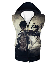 OtakuForm-OP Hoodie Hooded Tank Top / US XXS (Asian XS) Attack on Titan The Survey Corps Wings of Freedom Blue Hoodie