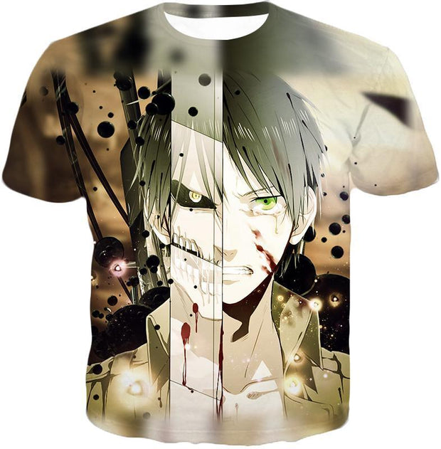 OtakuForm-OP Hoodie T-Shirt / US XXS (Asian XS) Attack on Titan The Titan Human Eren Yeager Hoodie  - Anime Hoodie