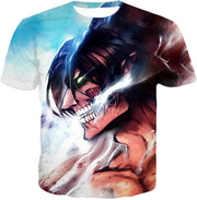OtakuForm-OP Hoodie T-Shirt / US XXS (Asian XS) Attack on Titan Titan Form Eren Yeager White Hoodie