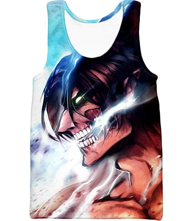OtakuForm-OP Hoodie Tank Top / US XXS (Asian XS) Attack on Titan Titan Form Eren Yeager White Hoodie