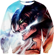 OtakuForm-OP Hoodie Sweatshirt / US XXS (Asian XS) Attack on Titan Titan Form Eren Yeager White Hoodie