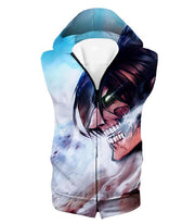 OtakuForm-OP Hoodie Hooded Tank Top / US XXS (Asian XS) Attack on Titan Titan Form Eren Yeager White Hoodie