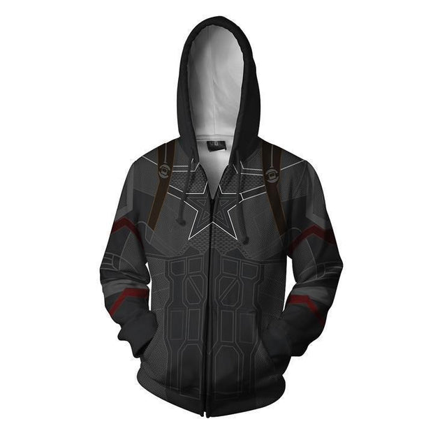 OtakuForm-OP Cosplay Jacket Zip Up Hoodie / US XS (Asian S) Avengers Infinity War Hoodie - Captain America Jacket