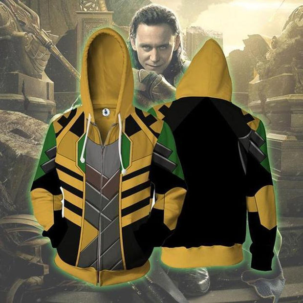 OtakuForm-OP Cosplay Jacket Zip Up Hoodie / US XS (Asian S) Avengers Infinity War Hoodie - Loki Jacket