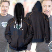 OtakuForm-OP Cosplay Jacket Zip Up Hoodie / US XS (Asian S) Avengers Infinity War Hoodie - Tony Stark V2 Jacket