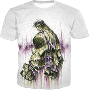 OtakuForm-OP T-Shirt T-Shirt / XXS Awesome Green Hulk Fan Art White T-Shirt