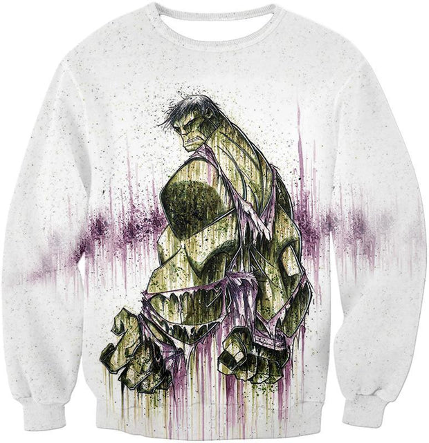 OtakuForm-OP T-Shirt Sweatshirt / XXS Awesome Green Hulk Fan Art White T-Shirt