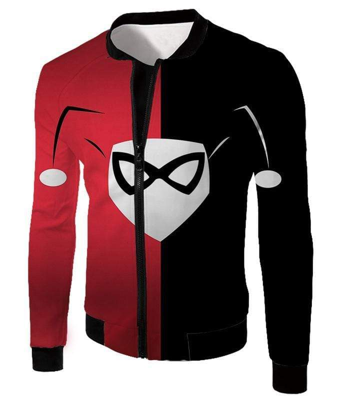 OtakuForm-OP Hoodie Jacket / XXS Awesome Harley Quinn Logo Promo Red and Black Hoodie