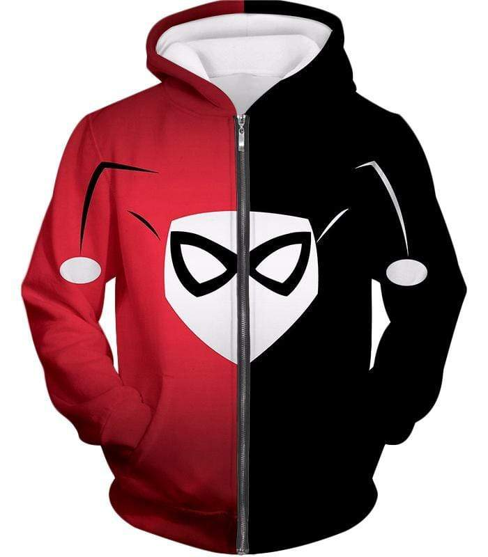 OtakuForm-OP Zip Up Hoodie Zip Up Hoodie / XXS Awesome Harley Quinn Logo Promo Red and Black Zip Up Hoodie