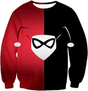 OtakuForm-OP Zip Up Hoodie Sweatshirt / XXS Awesome Harley Quinn Logo Promo Red and Black Zip Up Hoodie