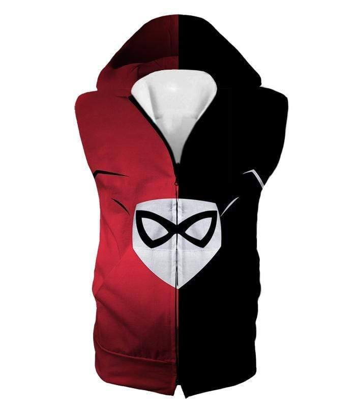 OtakuForm-OP Zip Up Hoodie Hooded Tank Top / XXS Awesome Harley Quinn Logo Promo Red and Black Zip Up Hoodie