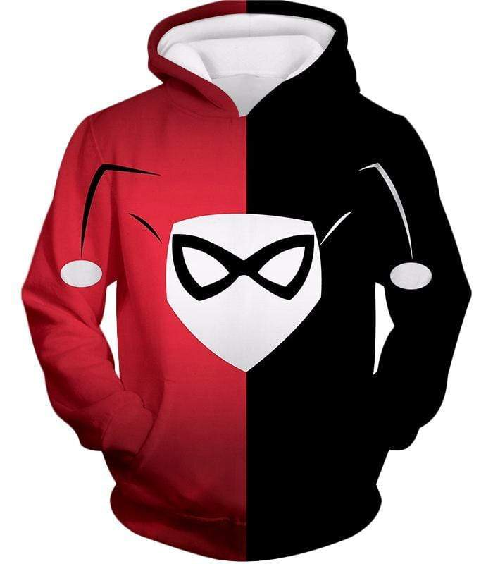 OtakuForm-OP Zip Up Hoodie Hoodie / XXS Awesome Harley Quinn Logo Promo Red and Black Zip Up Hoodie
