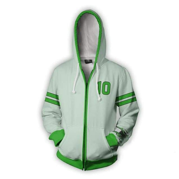 OtakuForm-OP Cosplay Jacket Zip Up Hoodie / US XS (Asian S) Ben 10 Hoodie - Tennyson Omniverse Jacket