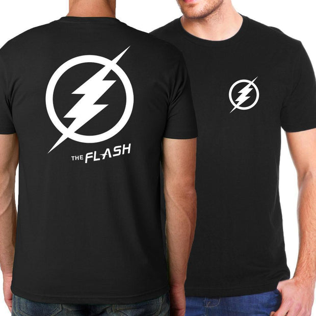 OtakuForm-SH T-Shirt S / Black Black FLASH Logo Short Sleeve T-Shirt for Men