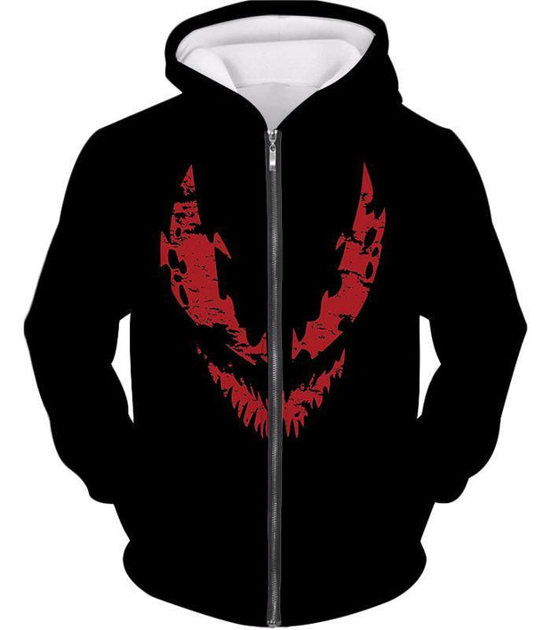 OtakuForm-OP T-Shirt Zip Up Hoodie / XXS Blood Red Spiderman Villain Carnage Promo Black T-Shirt