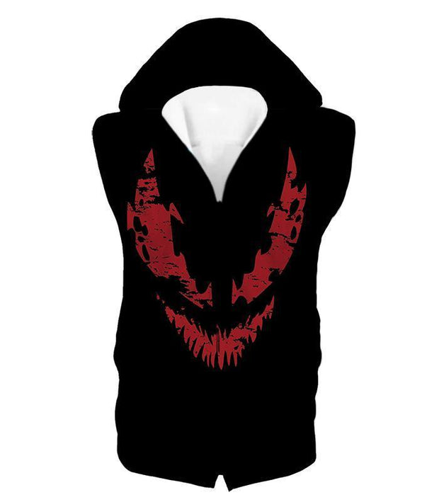 OtakuForm-OP T-Shirt Hooded Tank Top / XXS Blood Red Spiderman Villain Carnage Promo Black T-Shirt