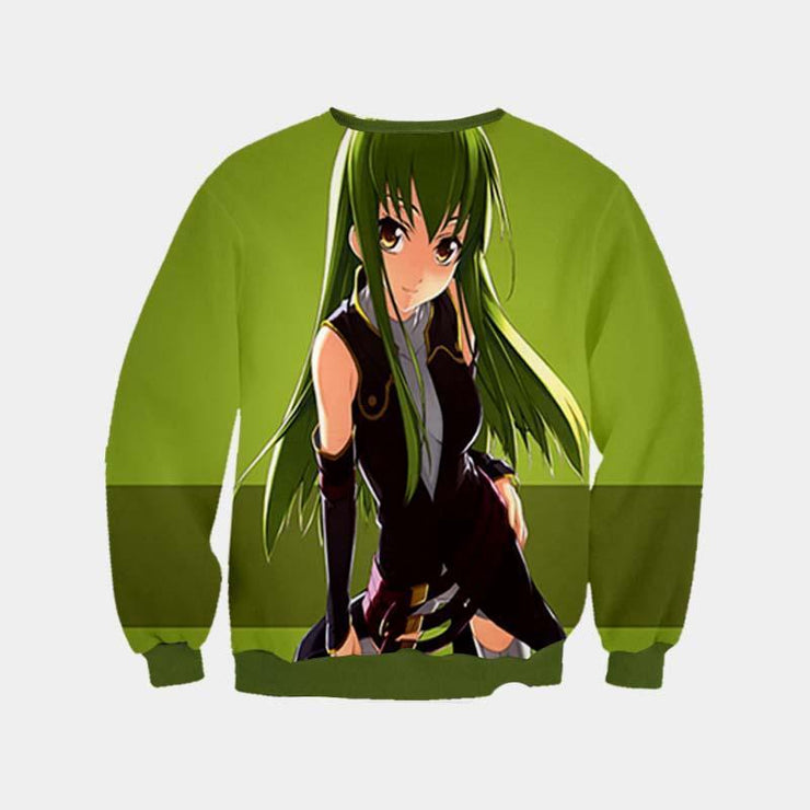 Code Geass Sweatshirt XXS C.C Green Dress Sweatshirt - Code Geass 3D Printed Sweatshirt