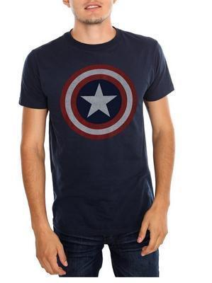 OtakuForm-SH T-Shirt US S / Navy Blue Captain America Superhero Shield Tee Shirt for Men