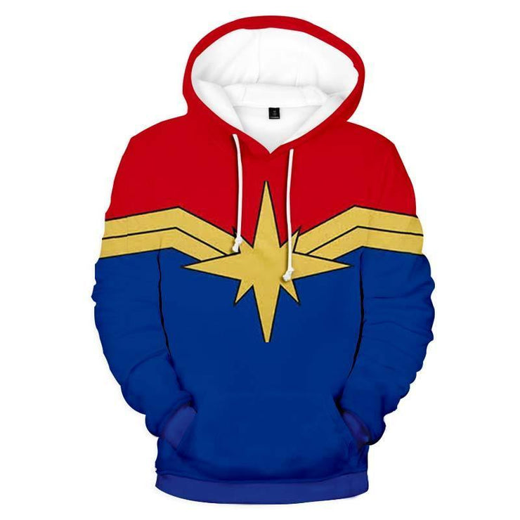 Captain Marvel Hoodie XXS Captain Marvel Cloth Design Hoodie - Captain Marvel 3D Graphic Hoodie