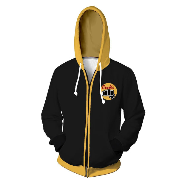 OtakuForm-OP Cosplay Jacket Zip Up Hoodie / XS Cobra Kai No Mercy Cosplay Zip Up Hoodie Jacket