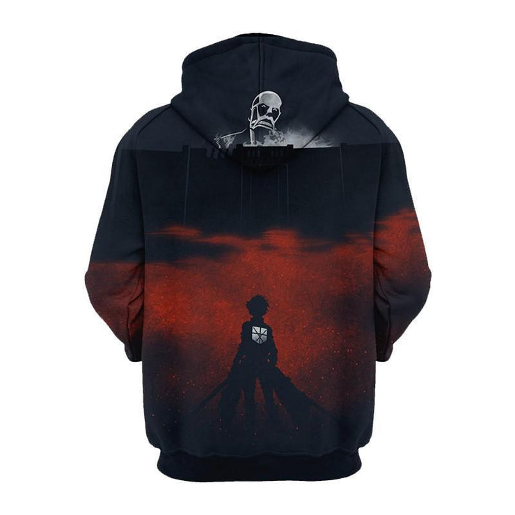 Attack On Titan Hoodie XXS Colossal Titan Attack On Titan Vol. 1 Hoodie - Attack On Titan 3D Graphic Hoodie