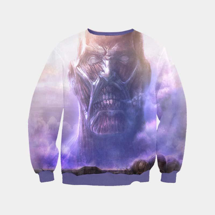 Attack On Titan Sweatshirt XXS / Sweatshirt Colossal Titan Sweatshirt - Attack on Titan 3D Printed Sweatshirt