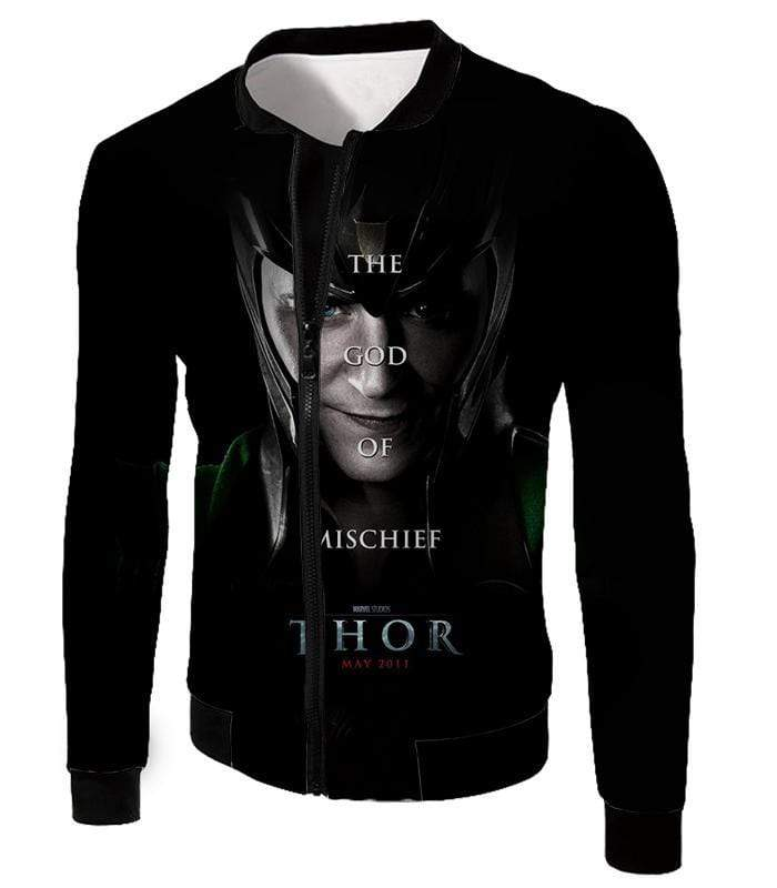 OtakuForm-OP T-Shirt Jacket / XXS Cool God of Mischief Loki Thor Promo Black T-Shirt