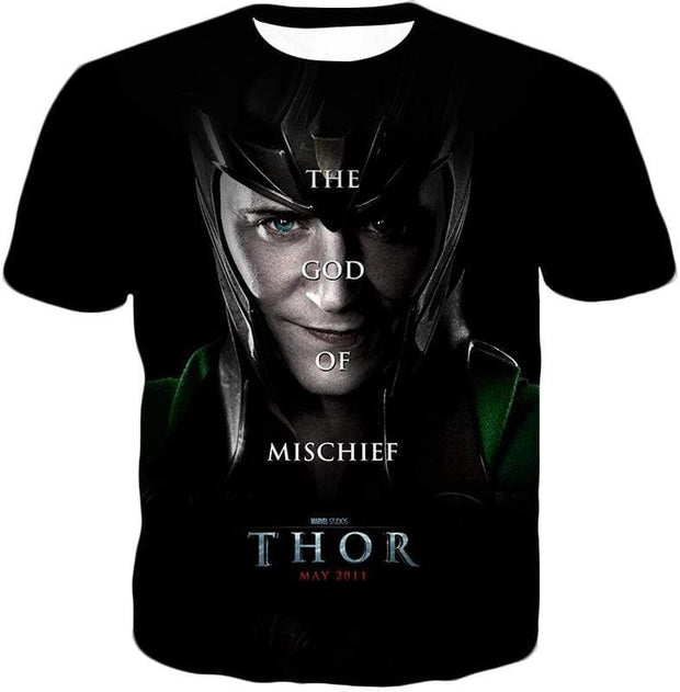 OtakuForm-OP Zip Up Hoodie T-Shirt / XXS Cool God of Mischief Loki Thor Promo Black Zip Up Hoodie
