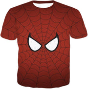 OtakuForm-OP T-Shirt T-Shirt / XXS Cool Spider Net Patterned Spidey Eyes Red  T-Shirt