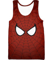 OtakuForm-OP T-Shirt Tank Top / XXS Cool Spider Net Patterned Spidey Eyes Red  T-Shirt