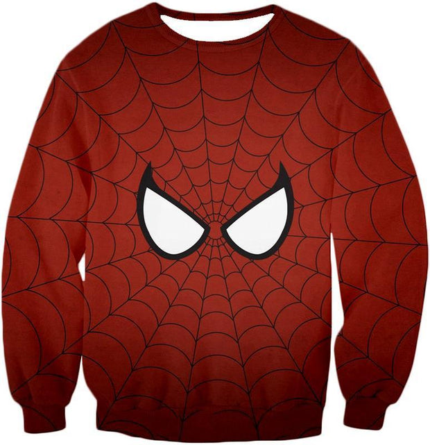 OtakuForm-OP T-Shirt Sweatshirt / XXS Cool Spider Net Patterned Spidey Eyes Red  T-Shirt