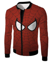 OtakuForm-OP T-Shirt Jacket / XXS Cool Spider Net Patterned Spidey Eyes Red  T-Shirt