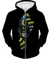 OtakuForm-OP T-Shirt Zip Up Hoodie / XXS Crazily Angry Superhero Hulk Black T-Shirt
