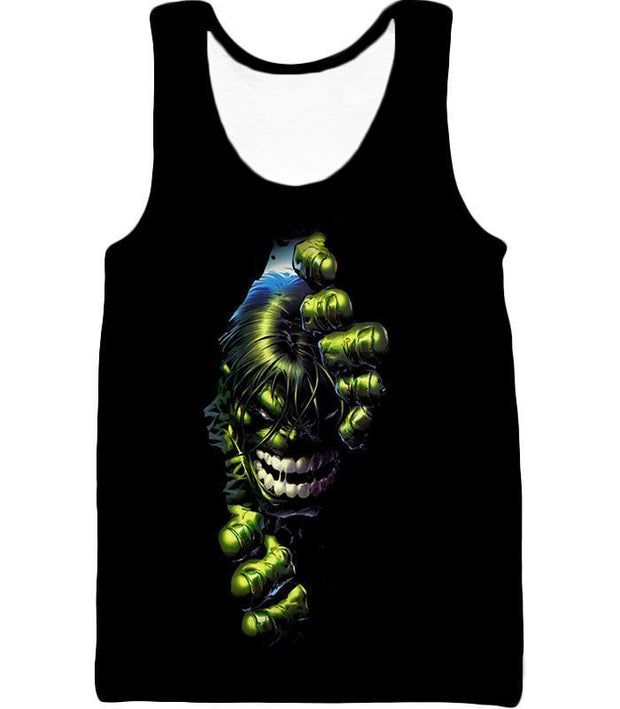 OtakuForm-OP T-Shirt Tank Top / XXS Crazily Angry Superhero Hulk Black T-Shirt