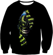 OtakuForm-OP T-Shirt Sweatshirt / XXS Crazily Angry Superhero Hulk Black T-Shirt