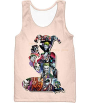 OtakuForm-OP Zip Up Hoodie Tank Top / XXS Crazy Harley Quinn Villain Made by Joker Awesome Promo White Zip Up Hoodie