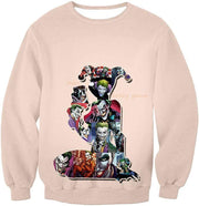 OtakuForm-OP Zip Up Hoodie Sweatshirt / XXS Crazy Harley Quinn Villain Made by Joker Awesome Promo White Zip Up Hoodie